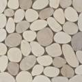 Sliced Matte Pebbles Xl White/Beige Mix (Gami-74) Thumbnail Image