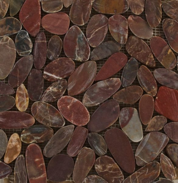 Sliced Polished Pebbles Brown (Gama-11) Photo