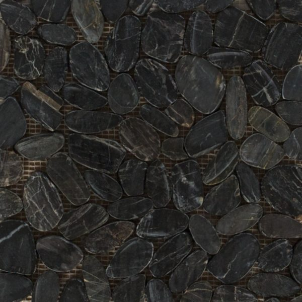 Sliced Polished Pebbles Black (Gano-19) Photo
