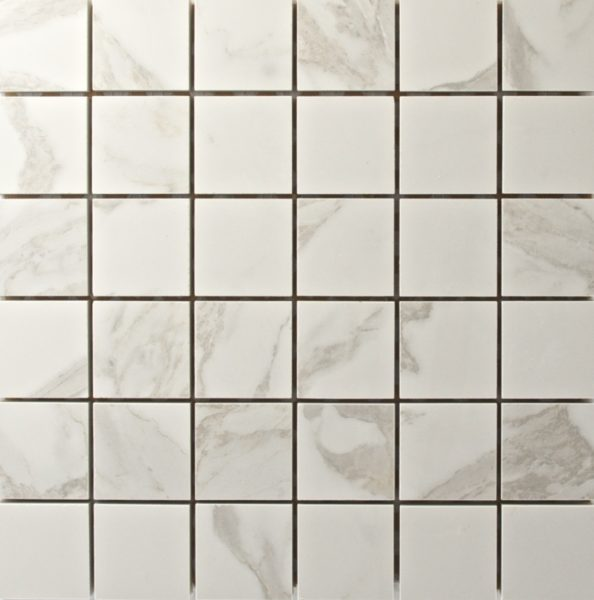 Statuario White Mosaic Photo