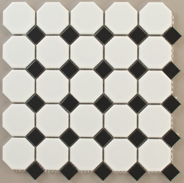 Octagon White With Black Dot (Matte) Photo